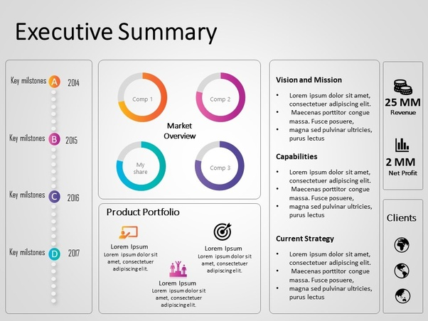 what are some good examples of executive summary for an it startup