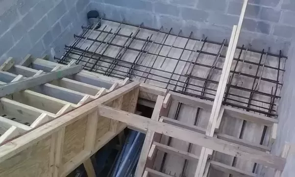 Lovely Concrete Stairs With Rebar And Dowels Going Into Walls Before Placing  Concrete.