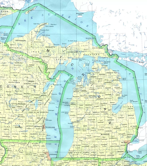 Which state touches three Great Lakes? - Quora