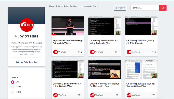 Youtube channels for Ruby/Rails? - Quora