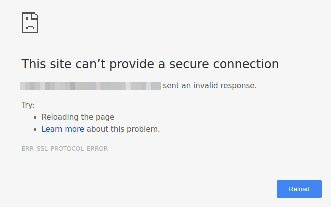 What is the solution for chrome browser showing \u201cThis site can\u0027t