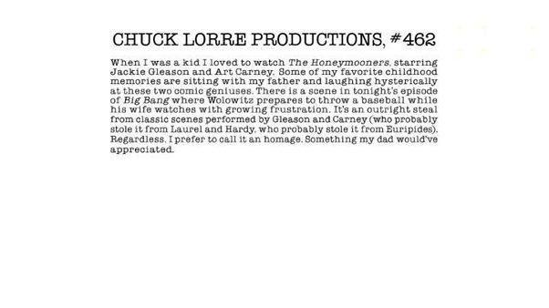 Why Did Chuck Lorre Stop Flashing Vanity Cards At The End Of Credits To Big Bang Theory
