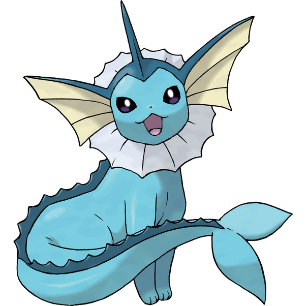 Eevee. It Evolves Into One Of Eight Different Pokémon Through Various  Methods: Vaporeon When Exposed To A Water Stone.
