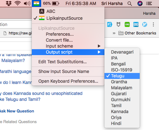 How to type in Telugu/Kannada in MacOS 10 13 with Phonetic
