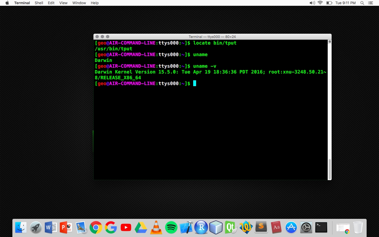 I want to change my terminal view so that my command prompt