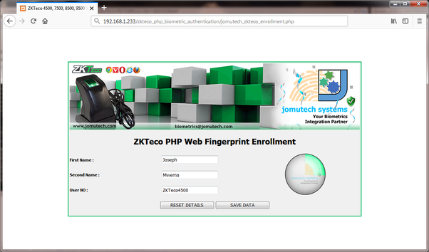 Can we integrate ZKTeco K40 fingerprint attendance system with PHP