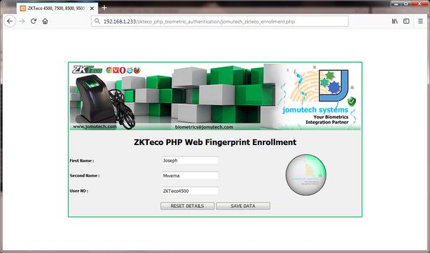 Zkteco Web Server