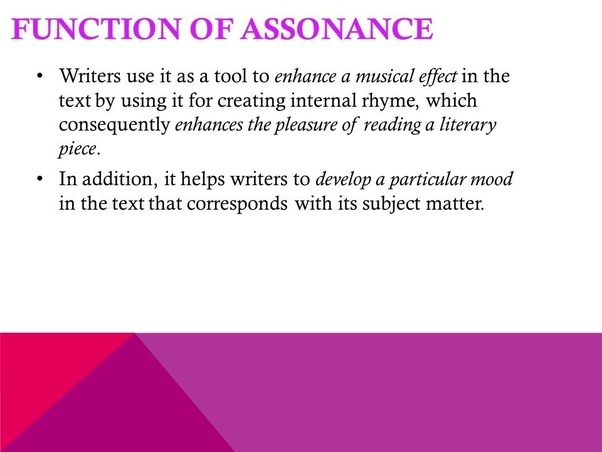 What are some effects of assonance? - Quora