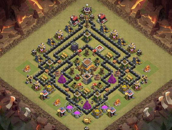 Base Coc Th 8 Terkuat War 7