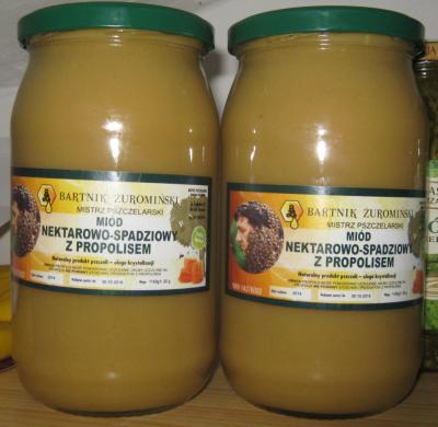 honey from a beekeeper