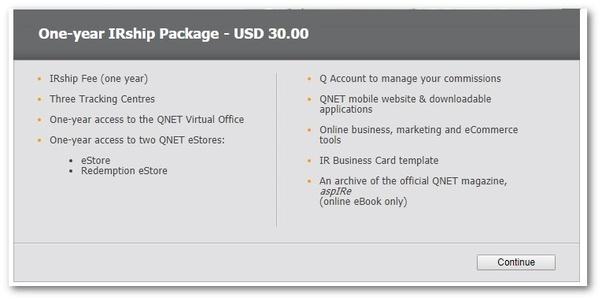 Qnet registration fee