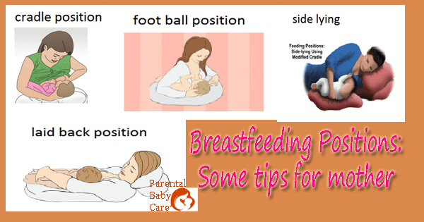What is the proper position of breastfeeding?