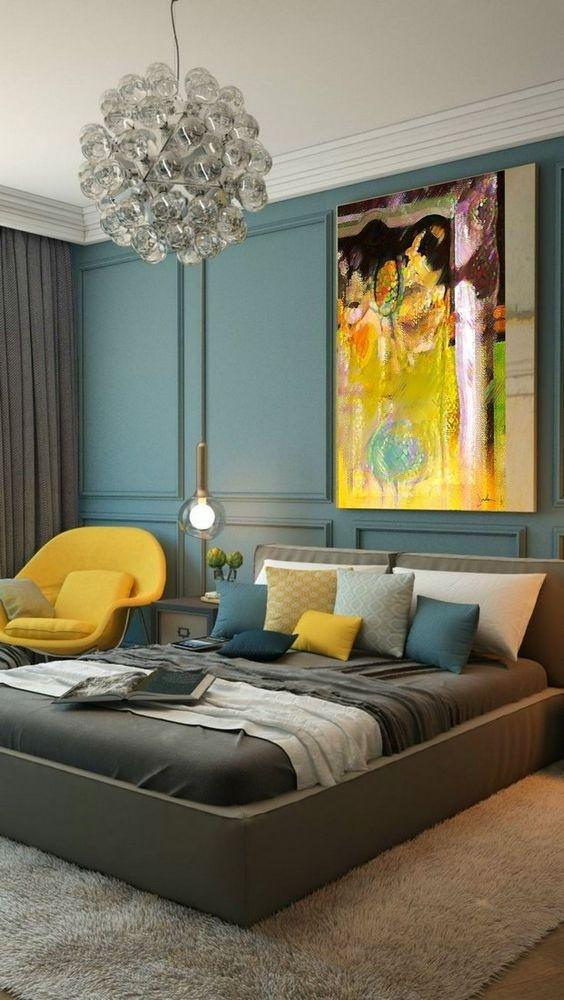 Captivating As Beautiful As The Grey Or White Walls Are, Theyu0027re Not The Only Colors  That Can Be Considered Contemporary! Muted Blues Are A Great Way To Add  Color To ...