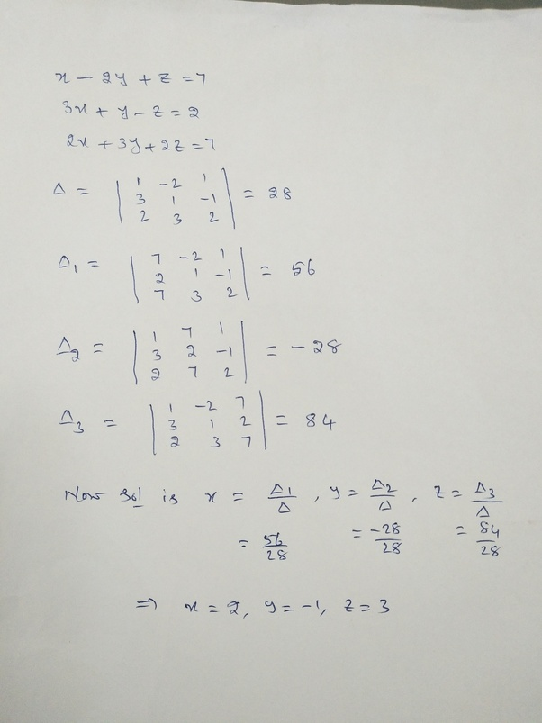 What Are The Solutions Of The Following Systems Of Equations By