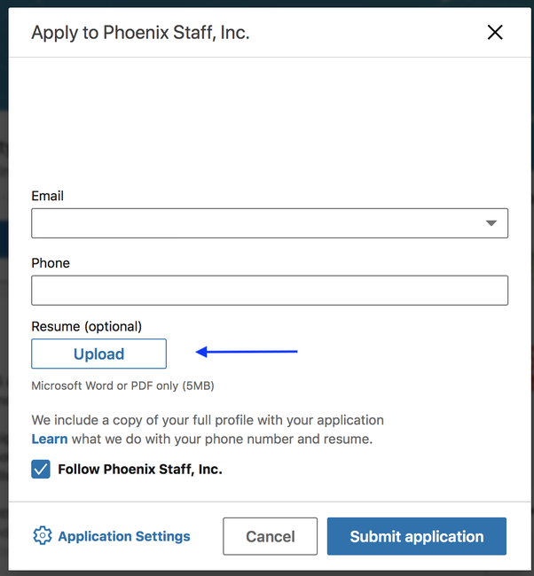 how to delete my current resume from linkedin and upload a new one