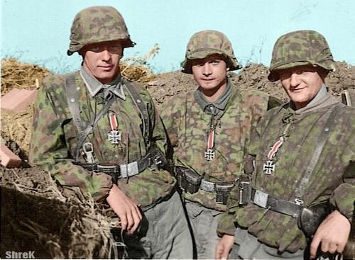 In WWII, why did German soldiers wear their medals in combat