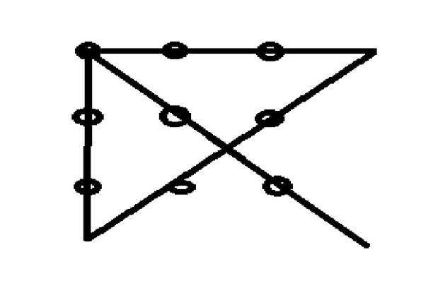 How to connect 9 dots with 4 straight lines without ...