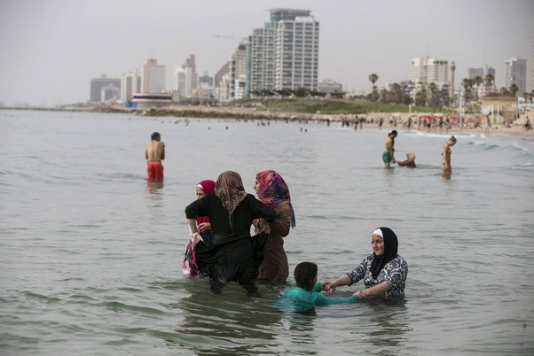 beach burkas in at the women Muslim