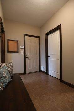 if your interior doors are white can you use dark trim or does trim need to match door color. Black Bedroom Furniture Sets. Home Design Ideas