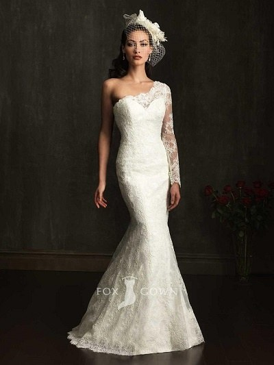 Best One Shoulder Wedding Dresses