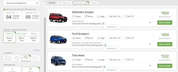 What Are The Rental Prices For Zoomcar Quora