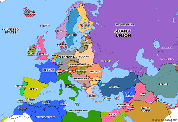 What did Europe\'s map look like after WW1? - Quora