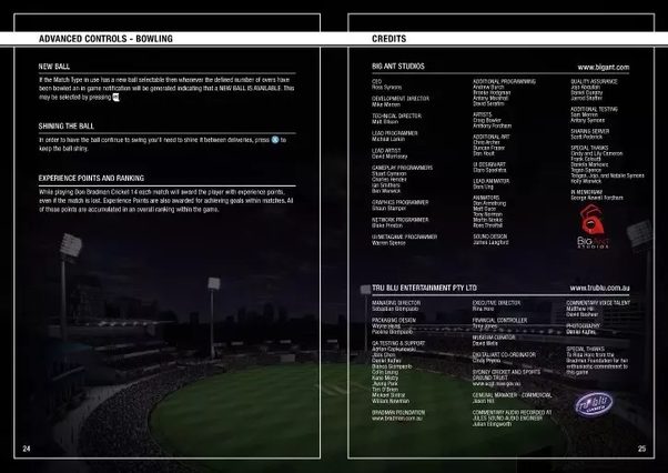 What are the keyboard controls for Don Bradman Cricket 14 for a PC
