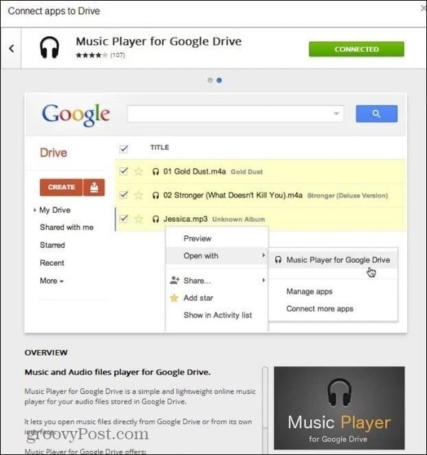 Is there an android mobile app that will play music from Google