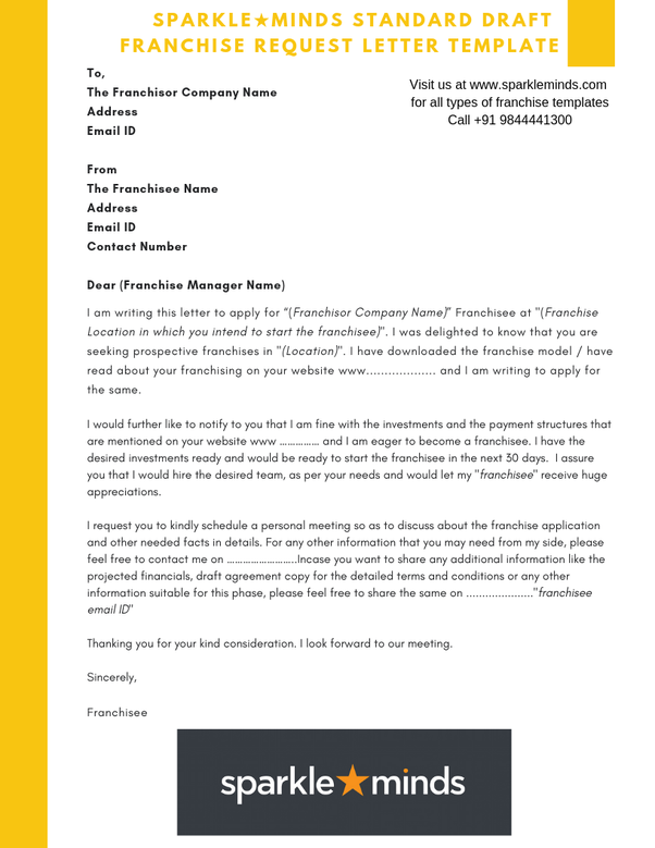 How to write a franchising request letter - Quora