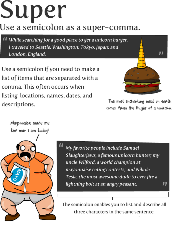 When should a semicolon be used in a sentence? What are the rules ...