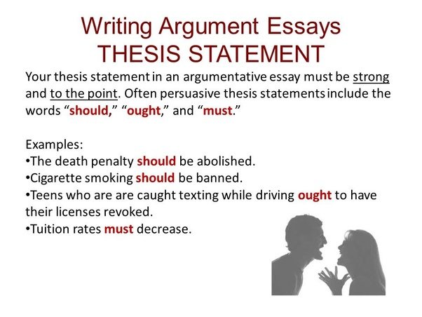 Essay argumentative example