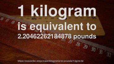 convertir 119 libras a kilos