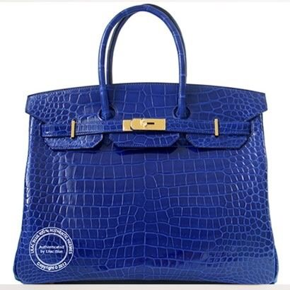 Shiny Crocodile Leather A Saffron Birkin
