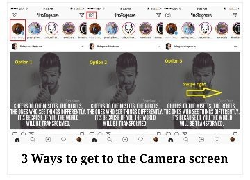 How to create an instagram story using multiple photos quora using any one of the options will take you to the camera screen where you can easily upload photo or video and create an instagram story ccuart Choice Image