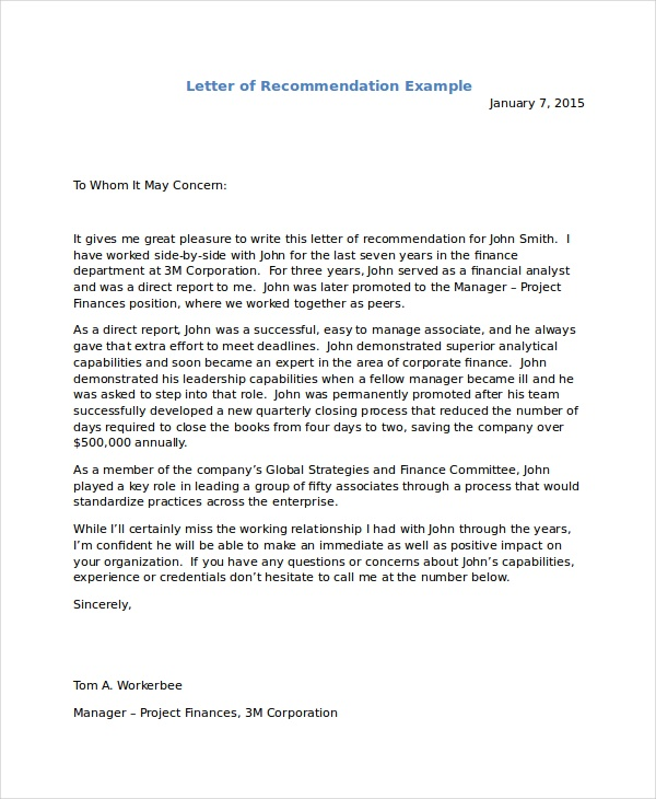 what information should be included in an immigration letter of recommendation