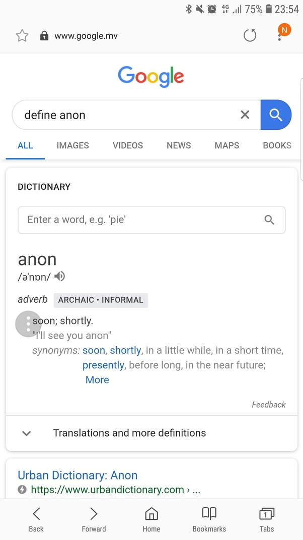 Do other people use 'anon' (meaning 'soon'), specifically in