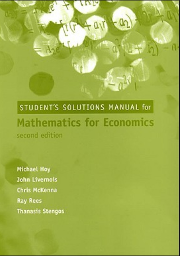 Which is the best book to learn mathematics for economics quora mathematics in economics models and methods by adam ostaszewski fandeluxe Image collections