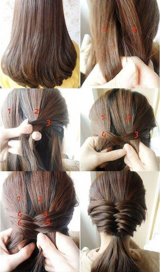 How To Tie My Medium Length Straight Hair While Going For My