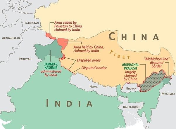 Why didnt india conquer china quora you can see that india actually neighbours tibet and further north xinjiang although both regions are now under the ultimate control of beijing publicscrutiny Images