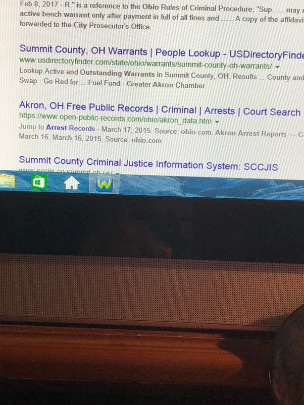 How to find out online if I have an active arrest warrant in