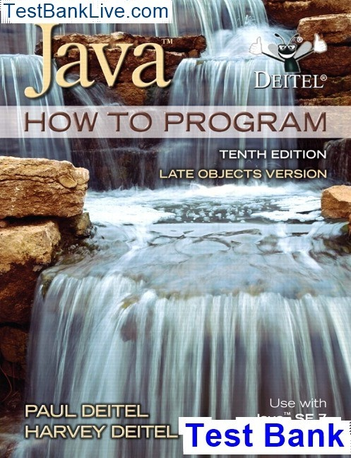 Where can I download the test bank for Java How to Program