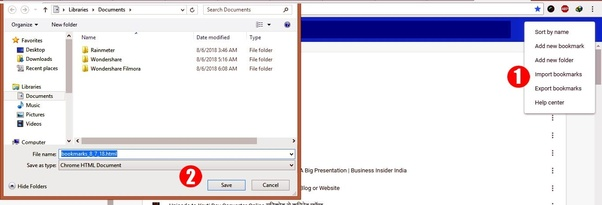 How to import my bookmarks from one computer to another - Quora