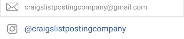 Craigslist posting Company still running Housing/Real estate, Service,  gigs, Job and Forsale section ads on craigslist.