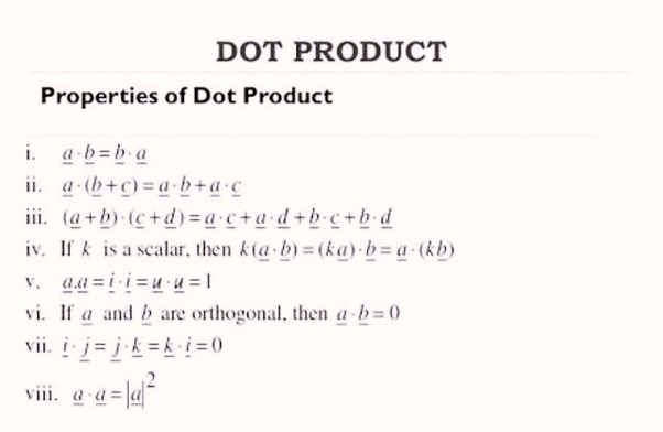 What Are The Properties Of Cross Products And Dot Products Quora