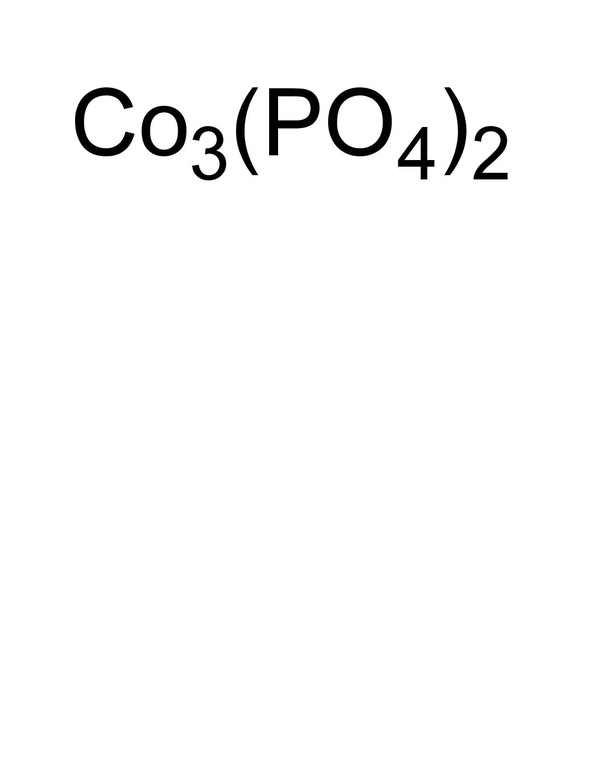 What Is The Formula For Cobalt Ll Phosphate How Is It Determined