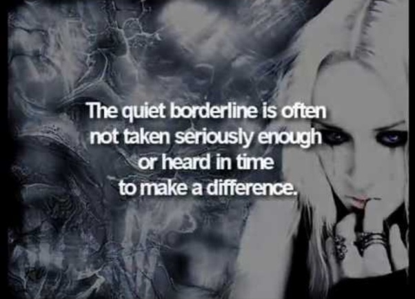 """What are some traits of a person with """"quiet"""" borderline"""