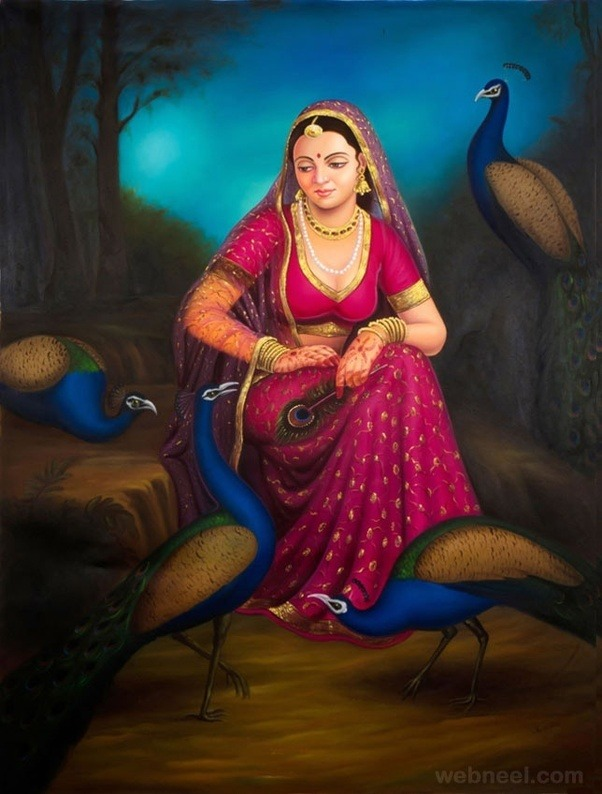 Which are the best indian paintings of all time quora - Beautiful woman painting hd ...