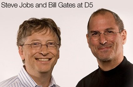 We sort of see this during the D5 conference, which featured both Steve Jobs  and Bill Gates.