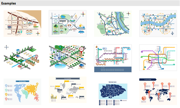 What is the best but easy to use for drawing maps? - Quora Directional Maps on