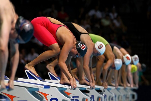 Genial Traycie Swartz Of University Of Utah In Her Starting Block 2012 U.S. Olympic  Swimming Team Trials. (from Al Bello/Getty Images North America)